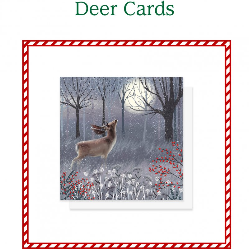 Deer and Stag Christmas Cards